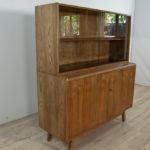 Wooden Sideboard with Bookcase by Bohumil Landsman & Hubert Nepozitek for Jitona, 1960s