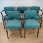 French Art Deco Chairs, 1930s, Set of 5