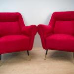 Italian Mid-Century Armchairs by Gigi Radice for Minotti, 1960s, Set of 2
