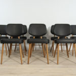 Leather Dining Chairs , 1970s, Set of 8