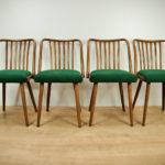Komplet czterech krzeseł, proj. A. Suman, TON, Czechosłowacja, lata 60