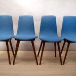 Komplet czterech krzeseł A-6150, Fameg, Polska, lata 60.