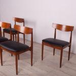 Mid Century Teak Dining Chairs by Ib Kofod Larsen for G-Plan, 1960s, Set of 4