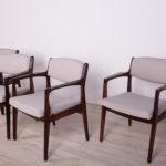 Komplet czterech foteli, proj. E. Buch, Ørum Møbelfabrik, Dania, lata 60.