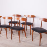 Mid Century Rosewood Dining Chairs by Harry Østergaard for Randers Møbelfabrik, 1950s, Set of 6