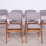 Komplet sześciu krzeseł, Polska, lata 60.