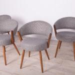 Komplet czterech krzeseł, Szwecja, lata 60.