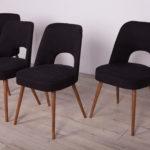 Komplet czterech krzeseł, proj. O. Haerdtl, TON, Czechosłowacja, lata 50.