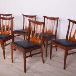 Komplet sześciu krzeseł Barsilia, G-Plan, Wielka Brytania, lata 50.