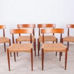Danish Dining Chairs by Arne Hovmand Olsen for Mogens Kold, 1960s, Set of 6