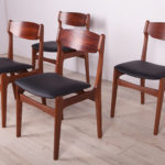 Mid-Century Rosewood & Teak Dining Chairs , 1960s, Set of 4