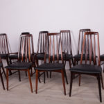 Komplet dziesięciu krzeseł Eva, proj. N. Koefoed, Koefoeds Hornslet, Wielka Brytania, lata 60.