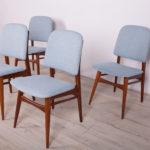 Komplet czterech krzeseł, Wielka Brytania, lata 60.