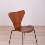 Danish Steel and Teak Model 3107 Dining Chair by Arne Jacobsen for Fritz Hansen, 1960s