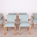 Vintage French Oak Dining Chair by Hugues Steiner for Steiner, 1960s, set of 6