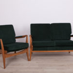 Green Sofa and Armchair from Cintique, 1960s, Set of 2
