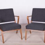 Para foteli, proj. S. Selmanagic, Deutsche Werkstätten Hellerau, Niemcy, lata 50.