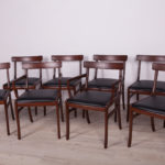 Komplet ośmiu krzeseł Rungstedlund, proj. O. Wanscher, Poul Jeppesen Møbelfabrik, Dania, lata 60.