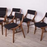 Komplet sześciu krzeseł Skoczek, proj. J. Kędziorek, Zamojska Fabryka Mebli, Polska, lata 70.
