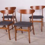 Komplet czterech krzeseł, Farstrup Møbler, Dania, lata 60.