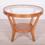 Oak & Glass Coffee Table by Karel Kozelka, Antonin Kropacek, 1940s