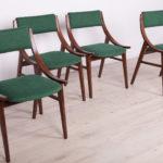 Komplet czterech krzeseł Skoczek, Zamojska Fabryka Mebli, Polska, lata 70.