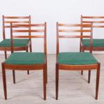 Komplet czterech krzeseł, proj. V. Wilkins, G-Plan, Wielka Brytania, lata 60.