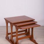 Komplet trzech stolików, proj. V. Wilkins, G-Plan, Wielka Brytania, lata 60.