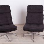 Czech Mid-Century Swivel Chairs, 1960s, Set of 2