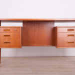 Freestanding Teak Desk by A. Vodder, 1960s
