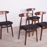 Komplet czterech krzeseł typ 5912, Zamojska Fabryka Mebli, Polska, lata 60.