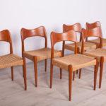 Danish Dining Chairs by Arne Hovmand-Olsen for Mogens Kold, 1960s, Set of 6