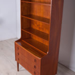 Mid-century teak shelf with pull-out top, 1960s