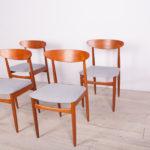 Mid-Century British Teak Dining Chairs, 1960s, Set of 4