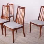 Komplet czterech krzeseł, proj. L. Dandy, G-Plan, Wielka Brytania, lata 60.