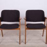 Danish Black Armchairs, 1960s, set of 2