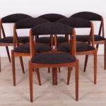 Komplet sześciu krzeseł model 31, proj. K. Kristiansen, Schou Andersen, Dania, lata 60.