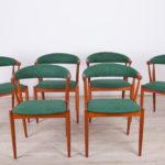 Komplet sześciu krzeseł, proj. J. Andersen, Broderna Anderssons Mobler AB, Dania, lata 60.