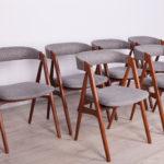 Komplet sześciu krzeseł, proj. Th. Harlev, Farstrup Møbler, Dania, lata 60.
