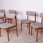 Komplet sześciu krzeseł, Dania, lata 60.