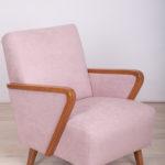 Vintage Pink Art Deco Armchair