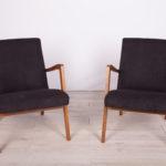 Para foteli typ 300-138, Bystrzyckie Fabryki Mebli, Polska, lata 60.