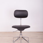 Leather and Chrome Mid Century Office Chair from Velo, 1960s