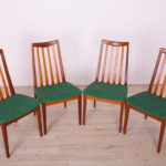 Fabric and Teak Dining Chairs by Leslie Dandy for G-Plan, 1960s, Set of 4