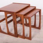 Komplet trzech stolików, proj. R. Benett, G-Plan, Wielka Brytania, lata 60.