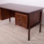 Mid Century Rosewood Freestanding Desk by Arne Vodder for Sibast, 1950s