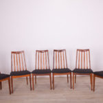Fabric and Teak Dining Chairs by Leslie Dandy for G-Plan, 1960s, Set of 6