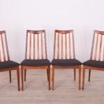 Komplet czterech krzeseł, proj. Leslie Dandy, G-Plan, Wielka Brytania, lata 60.