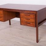 Wolnostojące biurko palisandrowe, Dania, lata 60
