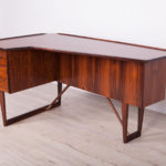 Mid Century Boomerang Rosewood Desk by Peter Løvig Nielsen, 1970s